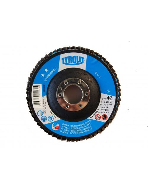 Fächerscheibe 115 x 22 mm, TYROLIT Zirkon, ZA, Best.-No. 031255