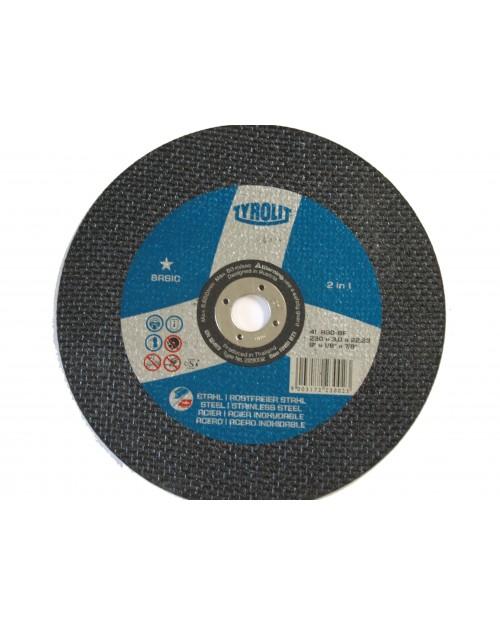 Trennscheibe INOX, BASIC, A30-BF-INOX 230x3,0mm, Tyrolit, Best.-No. 031017