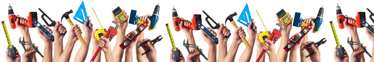 Viele Hände helfen beim Service für Schweissgeräte